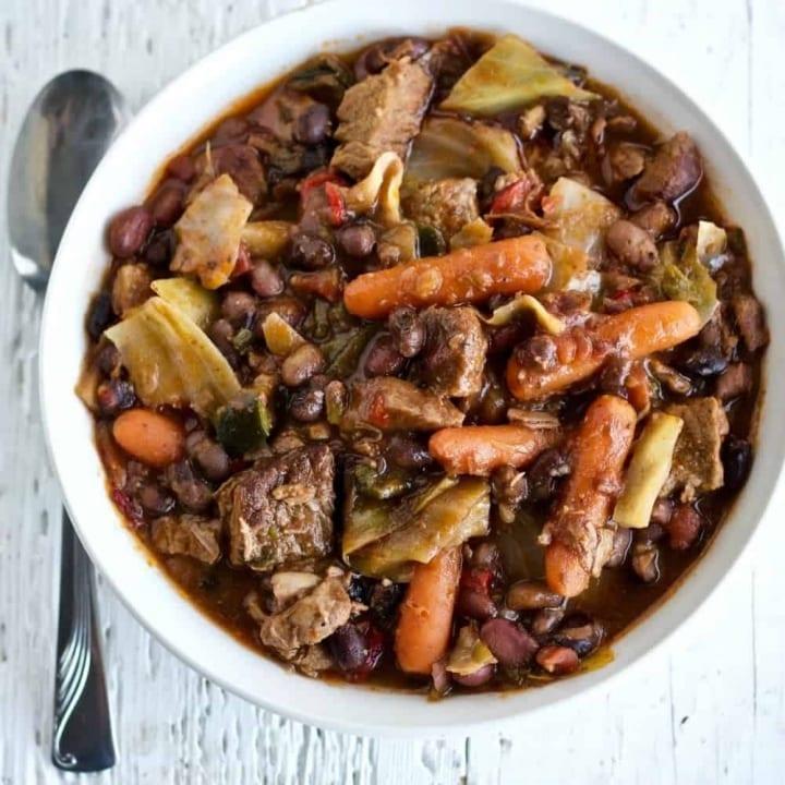 Instant Pot Four Bean Beef Stew