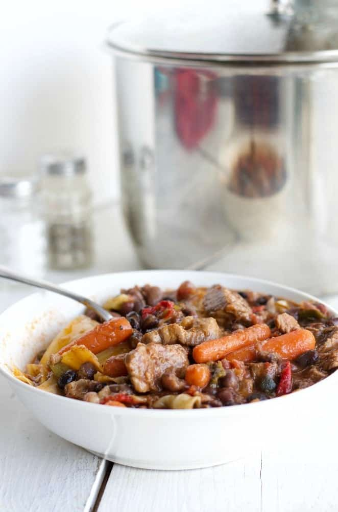 Instant Pot Four Bean Beef Stew