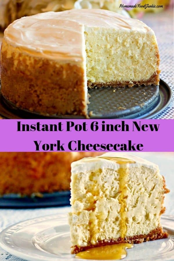 Instant Pot 6 inch cheesecake Pin image