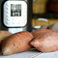 Instant Pot Steamed Sweet Potatoes