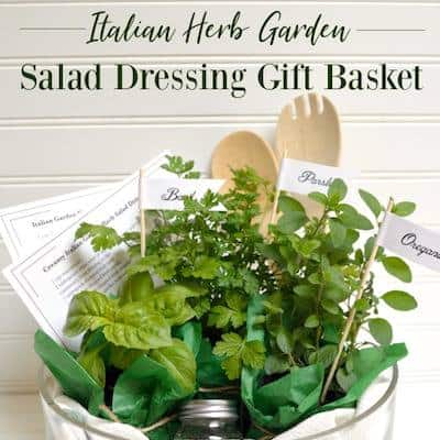 Salad dressing gift basket