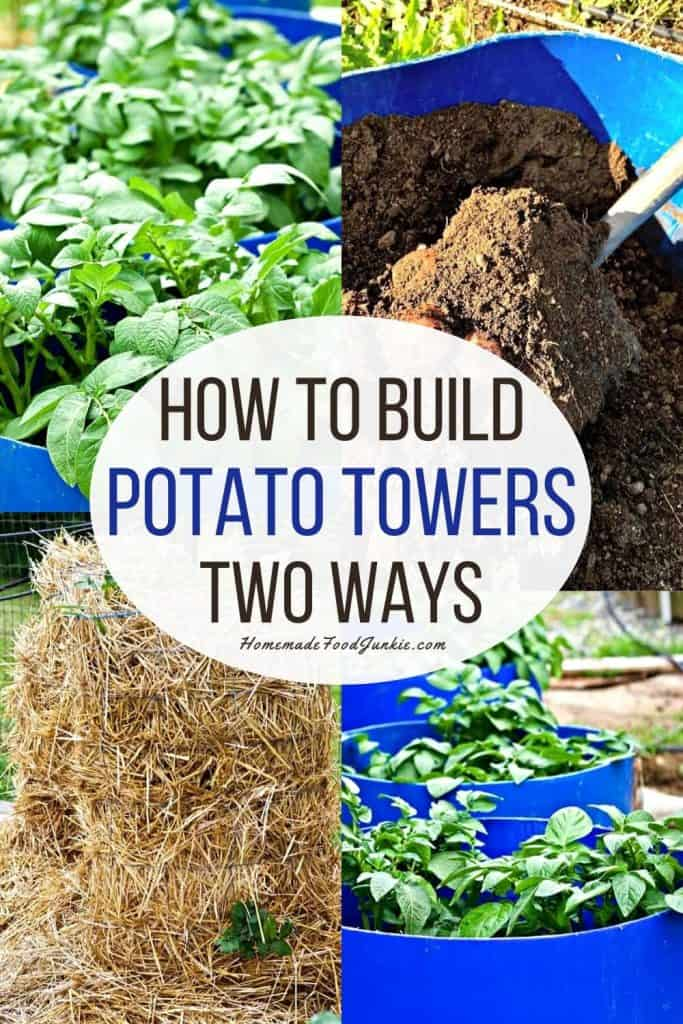 How to build potato towers two ways-pin image