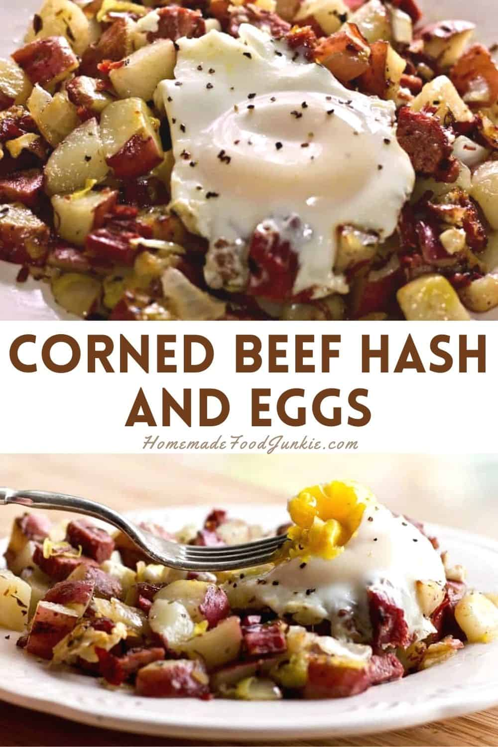 Corned beef hash and eggs-pin image
