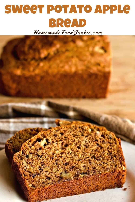 Sweet potato apple bread-pin image