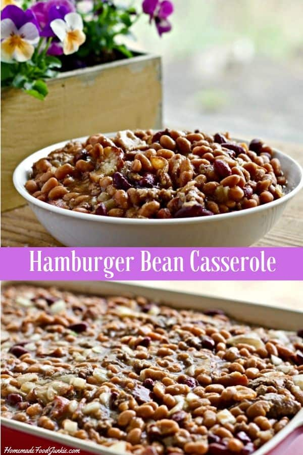 Hamburger Bean Casserole-Pin