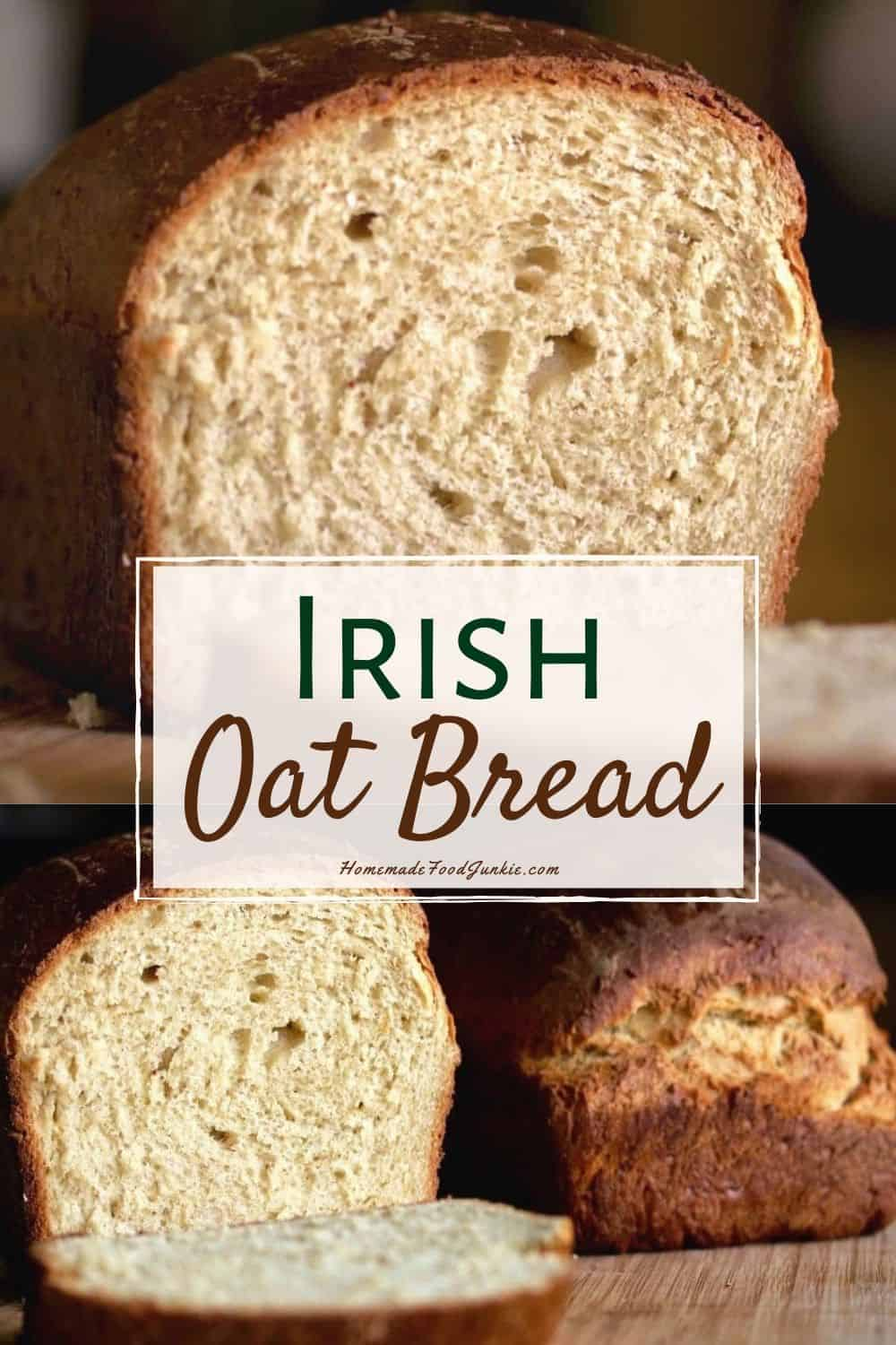 Irish oat bread-pin image
