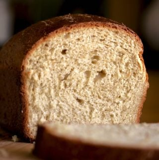Irish Oat Bread cut for crumb shot.