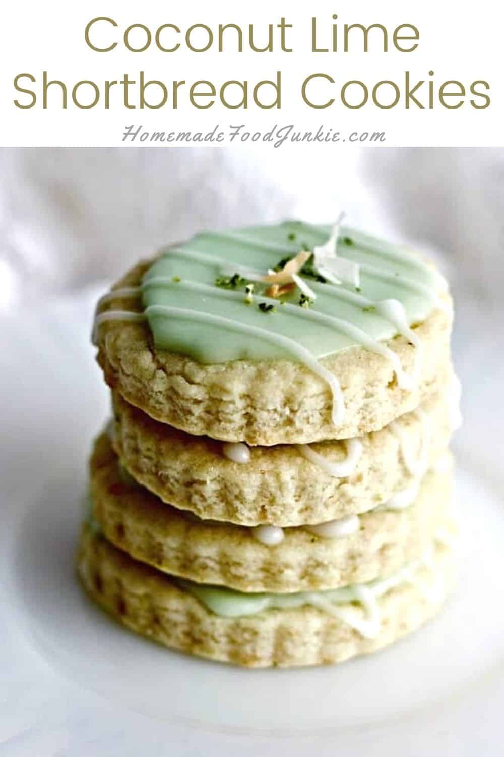 Coconut Lime Shortbread Cookies-Pin Image