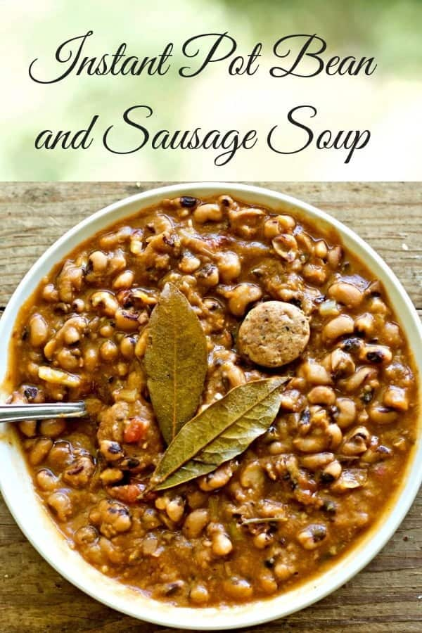 Instant Pot Bean and Sausage Soup