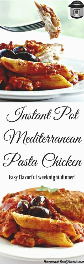 Instant Pot Mediterranean Chicken delicious easy weeknight dinner