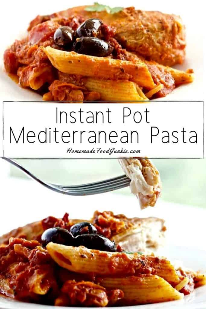 Instant Pot Mediterranean Pasta-pin image