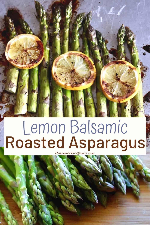 Lemon Balsamic Roasted Asparagus-pin image