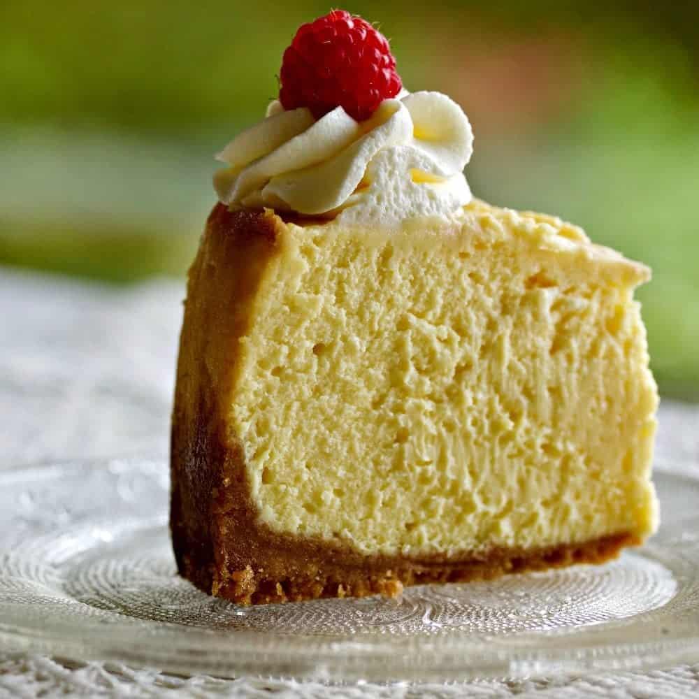 Instant Pot White Chocolate Raspberry Swirl Cheesecake