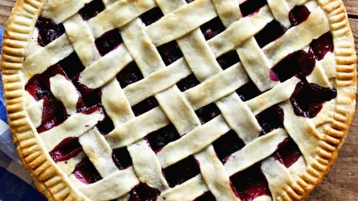 Blueberry Lime Pie With A Coconut Oil Crust
