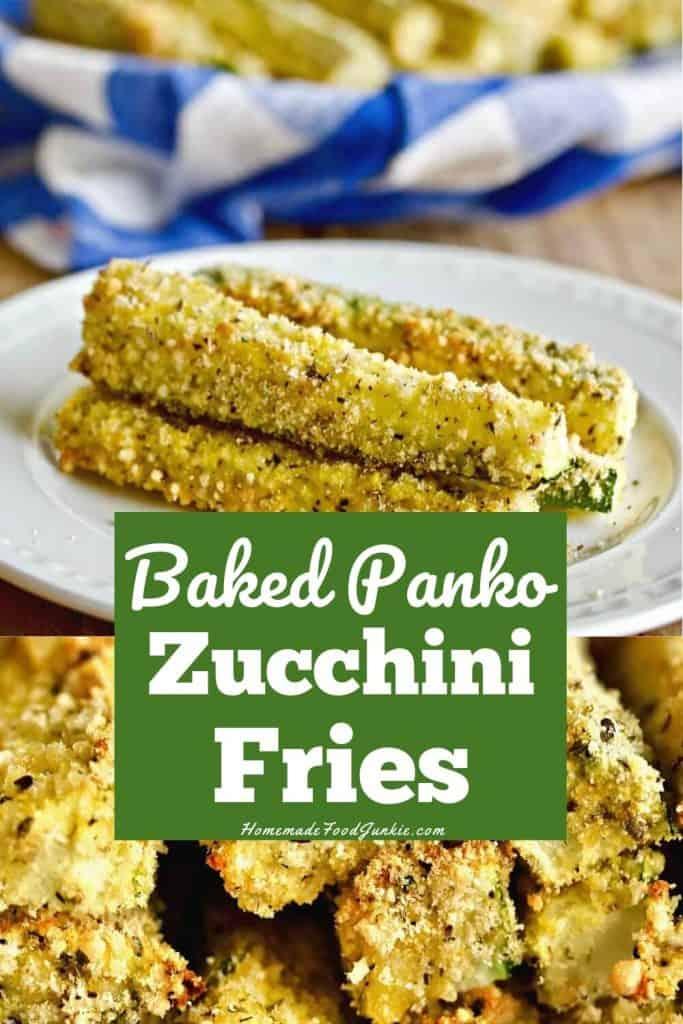 Baked Panko Zucchini Fries-pin image