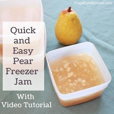 Pear Freezer Jam