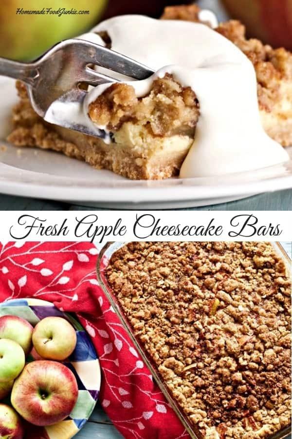 Fresh Apple Cheesecake Bars