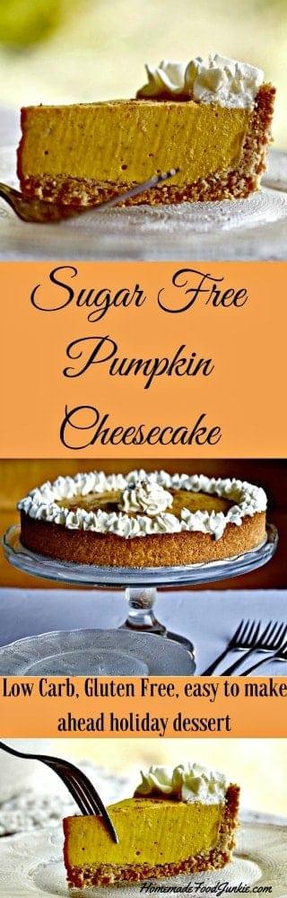 Sugar Free Pumpkin Cheesecake #steviva #lowcarb #glutenfree #dessert