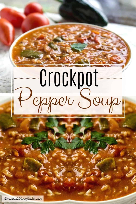 Crockpot Pepper Soup-pin image