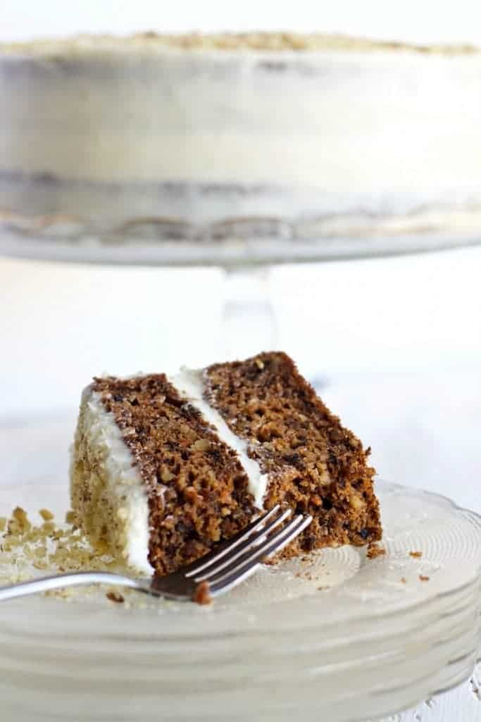 whole Carrot Cake and slice