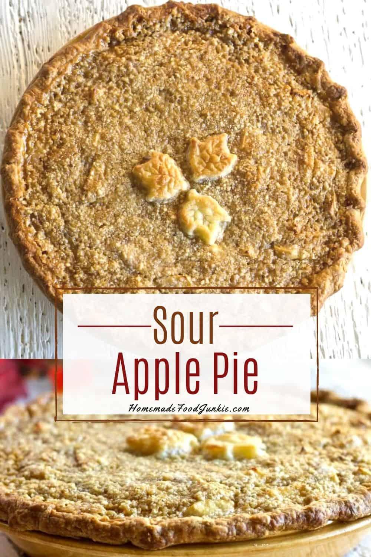 Sour apple pie with sourdough crust-pin image