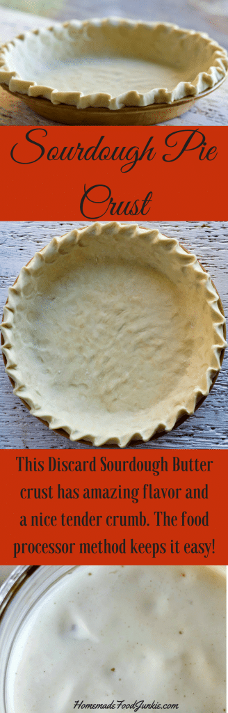 Sourdough Pie Crust is a tender crust with a bit of tangy flavor. Use up your discard starter and create wonderful pies!