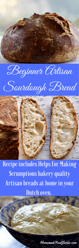Beginner Artisan Sourdough Bread. You will never go back to store bought once you master this! This post includes complete instructions and resource links.