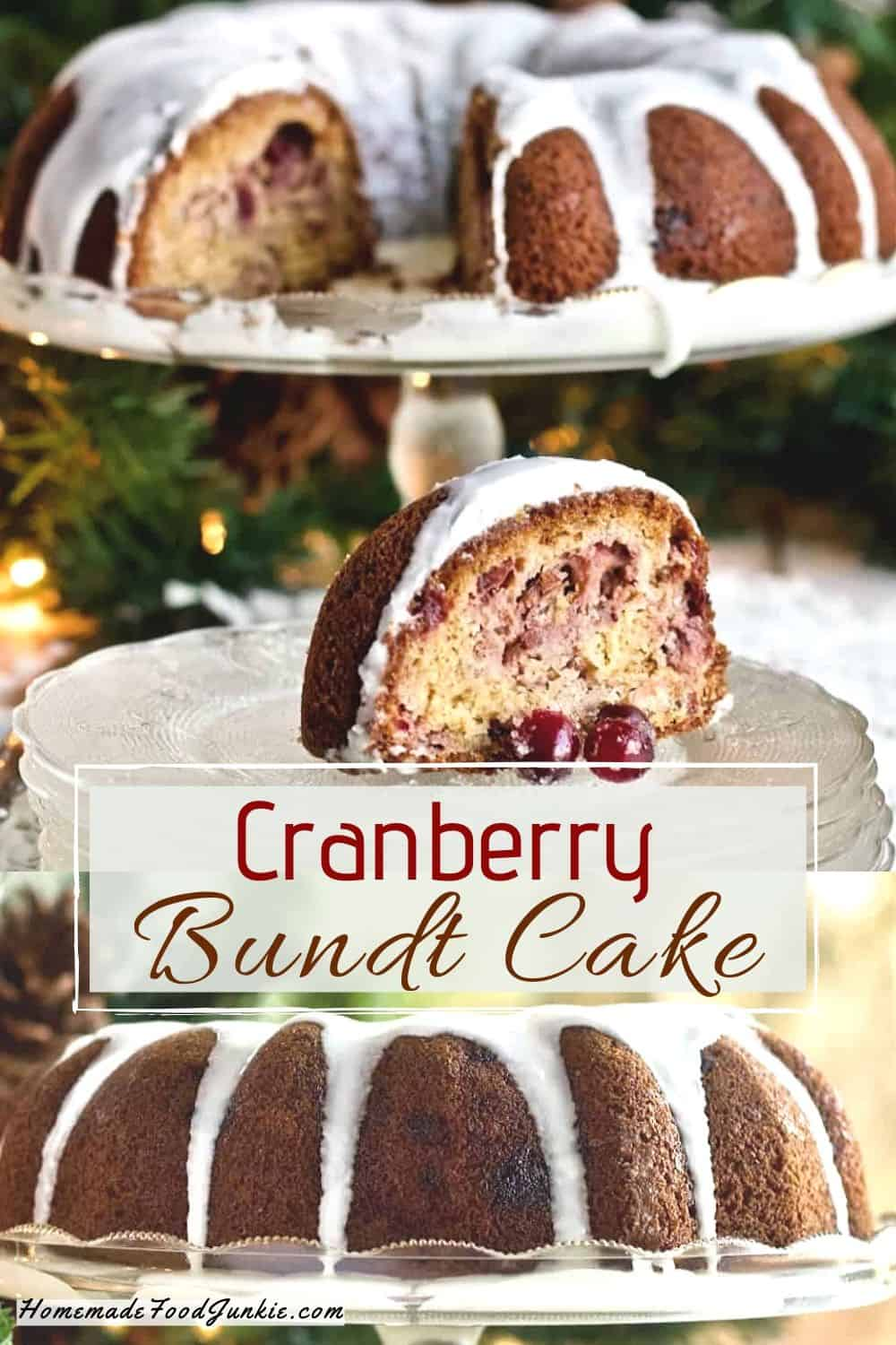 Cranberry Bundt Cake-pin image