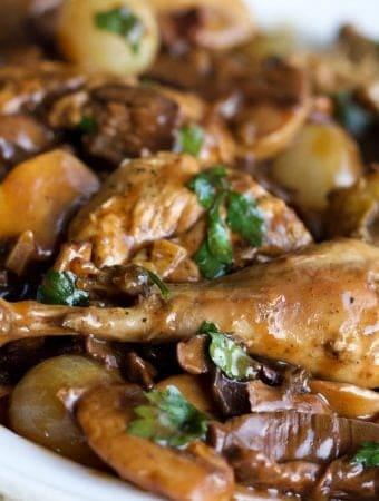Wild Pheasant In mushroom Wine Sauce