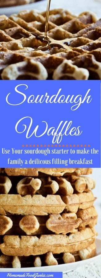 Sourdough Waffles Use up your sourdough starter discard and treat your family to this delicious light flavorful waffle #sourdoughrecipe #sourdough #waffles #wafflerecipe #Breakfast #Breakfastrecipe #baking