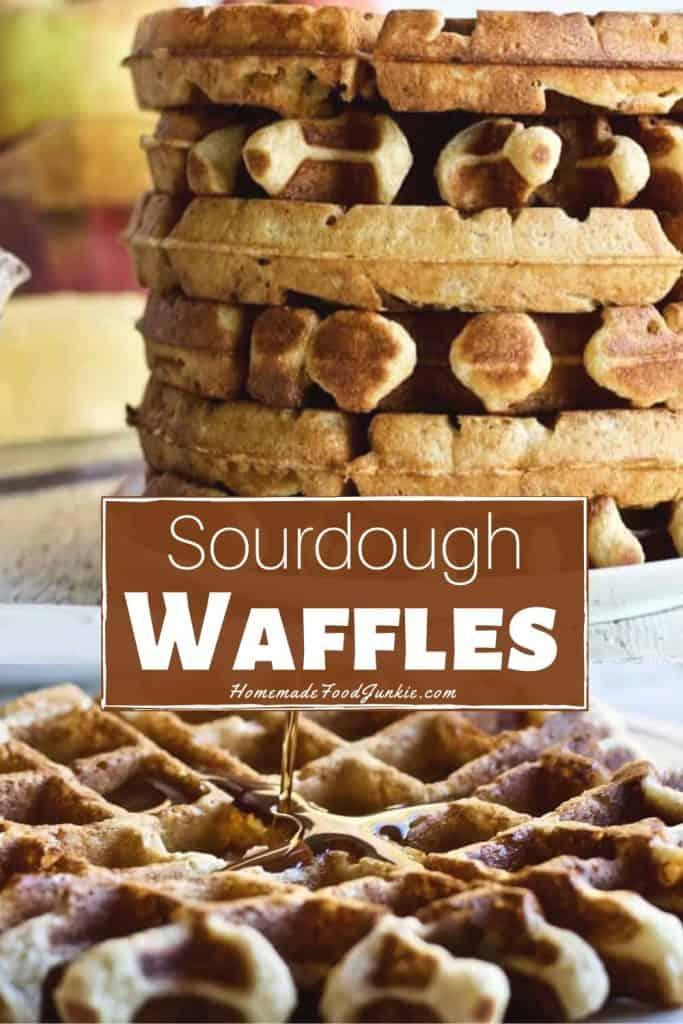 Sourdough Waffles-pin image