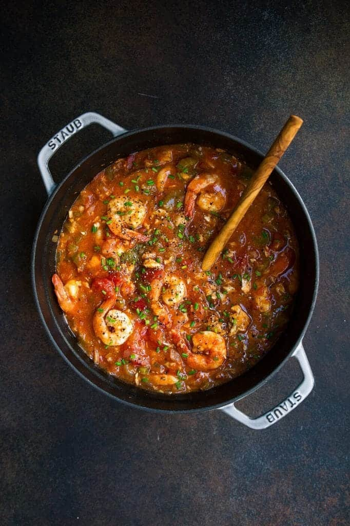 Whole 30 Instant Pot Seafood Gumbo by The Movement Menu