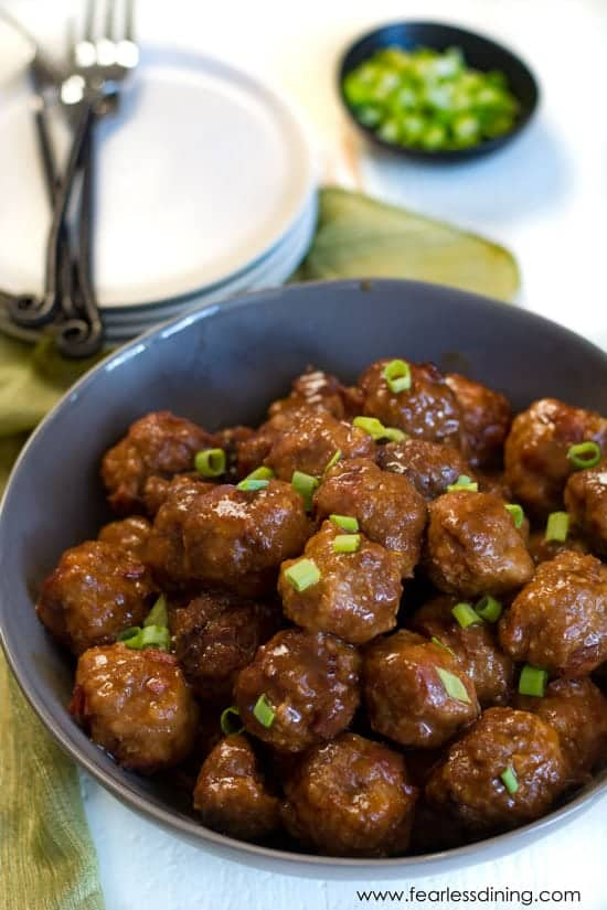 Pressure Cooker Gluten Free Barbecue Turkey Meatballs by Fearless Dining