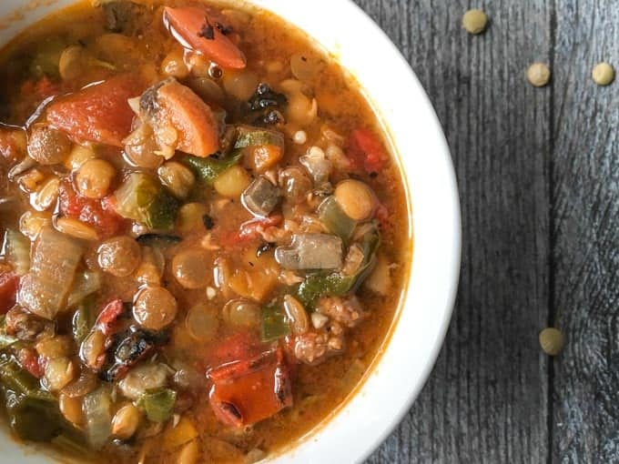 Easy Lentil sausage Soup