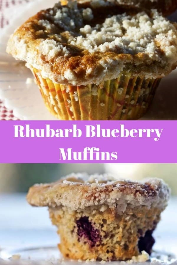 Rhubarb Blueberry Muffin Pin