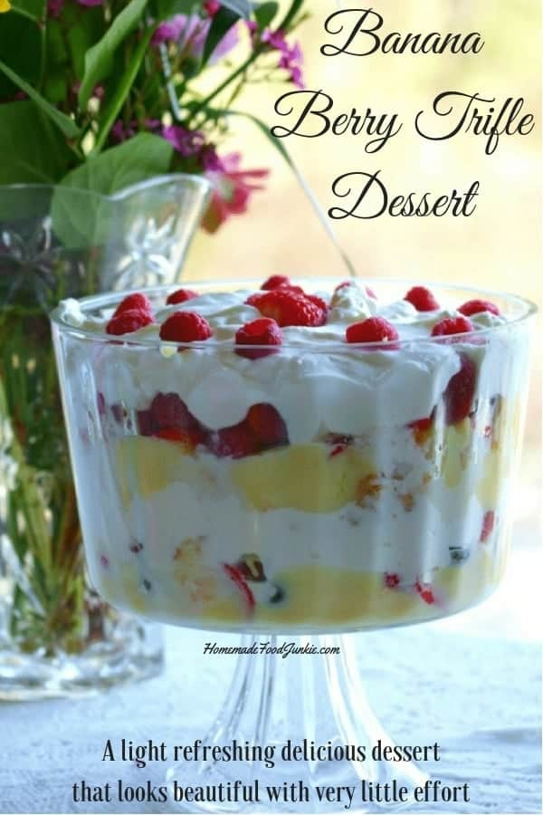 Banana Berry Trifle Dessert