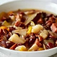 Instant Pot Hambone Bean Soup close up