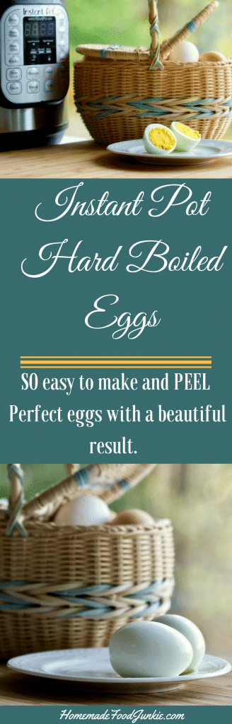 Instant Pot Hard Boiled Eggs are SO easy to make as YOU like them. Peeling off the shells is a dream! #instantpotrecipe #kitchenhelps #hardboiledeggtips #instantpoteggs