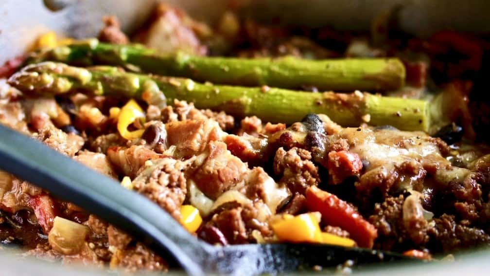 Smoky Moose Meat Skillet dinner