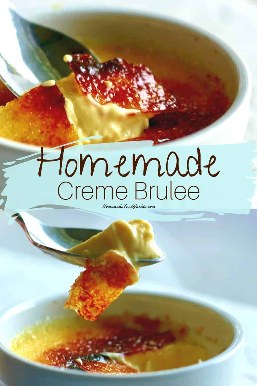 Homemade Creme Brulee-pin image