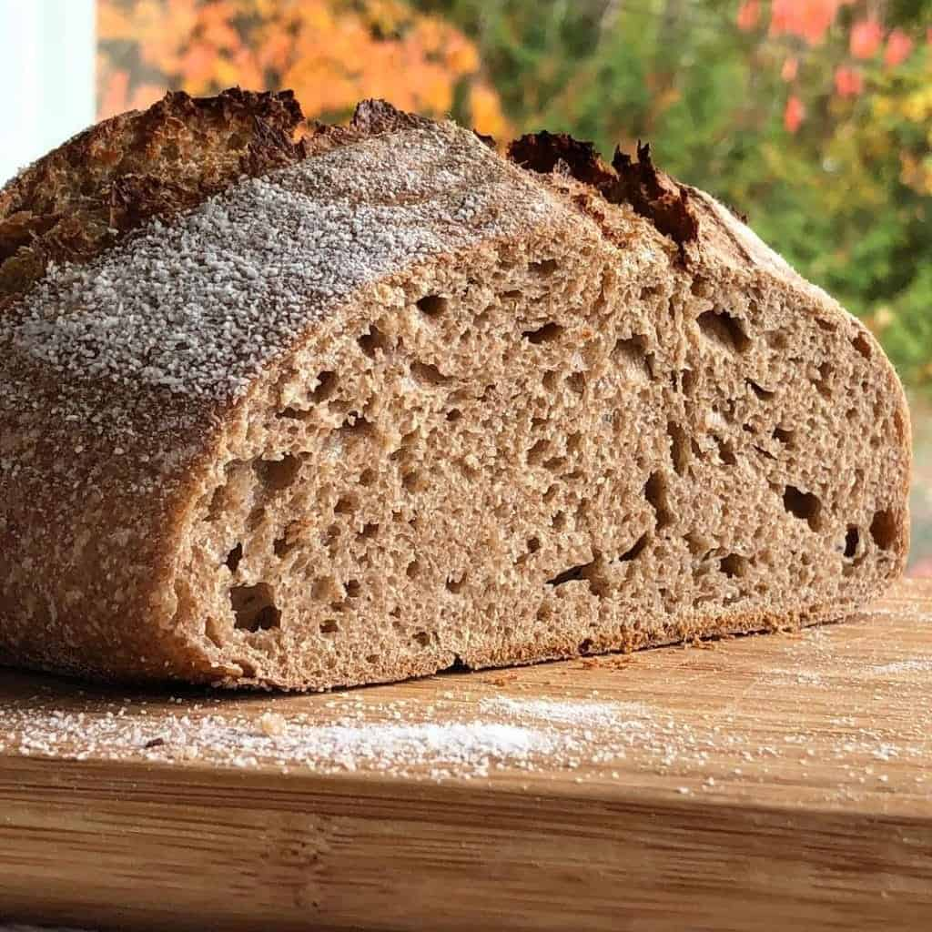 100 Percent Whole Wheat Sourdough Loaf