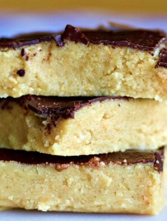KETO Approved Peanut Butter Bars-stacked