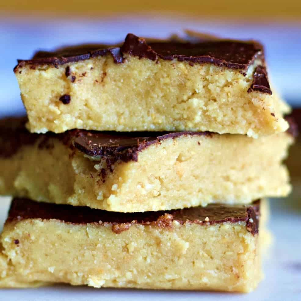 Keto Approved Peanut Butter Bars Homemade Food Junkie