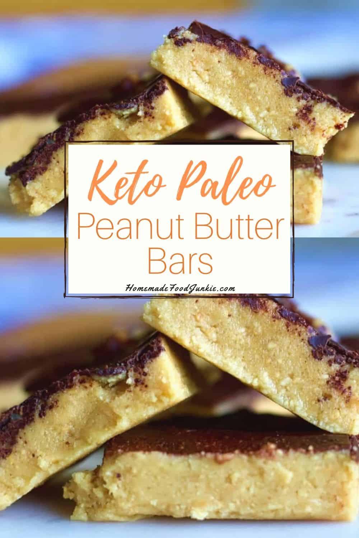 Keto paleo peanut butter bars-pin image