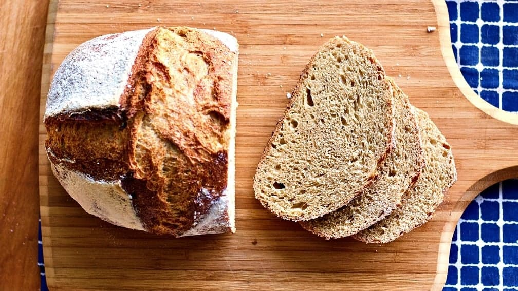 Sourdough Whole Wheat Bread-Sliced