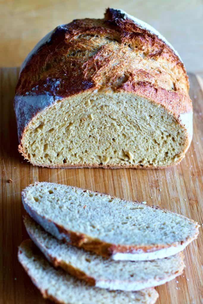 Sourdough Whole Wheat Bread-Sliced