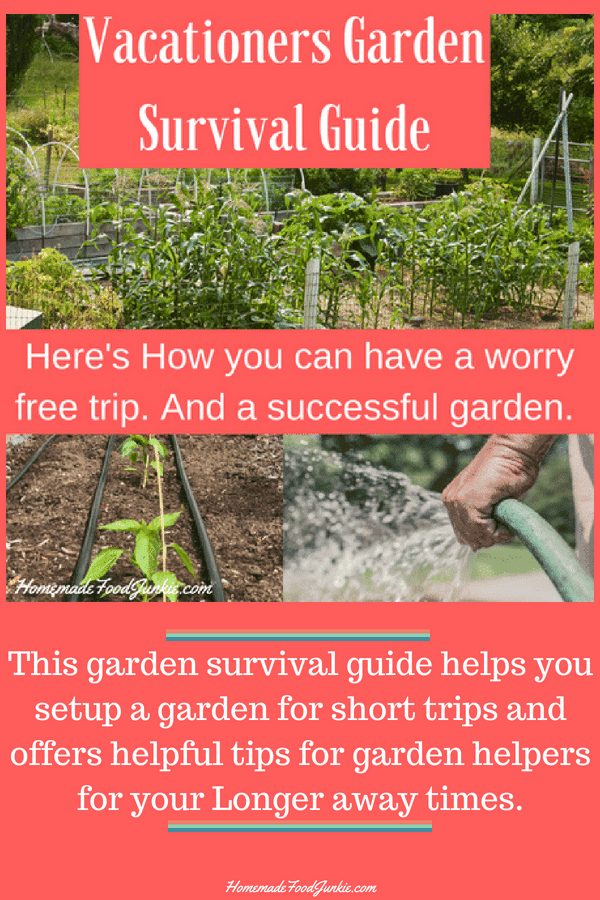 Vacationers Garden Survival Guide Will Help You Setup A Garden For Your Away Time. Have A Wonderful Worry Free Trip And A Successful Garden To Come Home To. #Gardening #Gardenpreperation #Gardenvacations