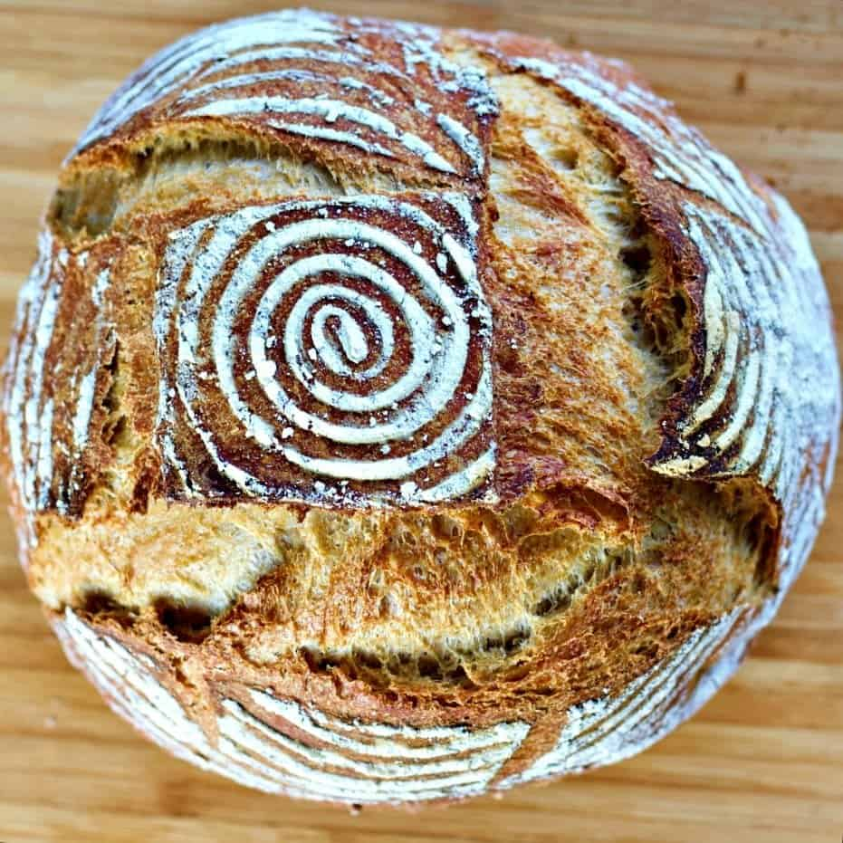 Beginner Whole Wheat Artisan Sourdough Bread