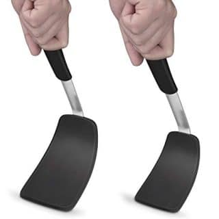 ClearSea Set 2 Flexible Silicone Spatula Heat Resistant up to 600oF Turner Steel Strong Blade Edges for Cooking