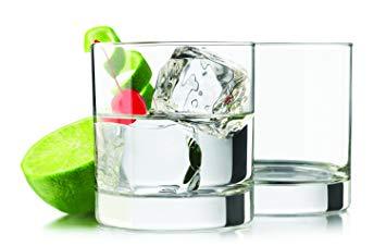 Heavy Base Rocks 4 piece set Drinking Glasses 11.7 oz